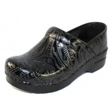 Dansko Women's Professional In Black Tooled Leather
