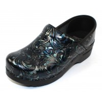 Dansko Women's Professional In Blue Damask Patent Leather