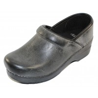 Dansko Women's Professional In Charcoal Distressed Leather
