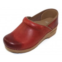 Dansko Women's Professional In Coral Waxy Burnished Leather
