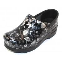 Dansko Women's Professional In Floral Metallic Patent Leather