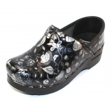 Dansko Women's Professional In Floral Metallic Patent Leather