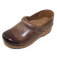 Dansko Women's Professional In Stone Waxy Burnished Leather