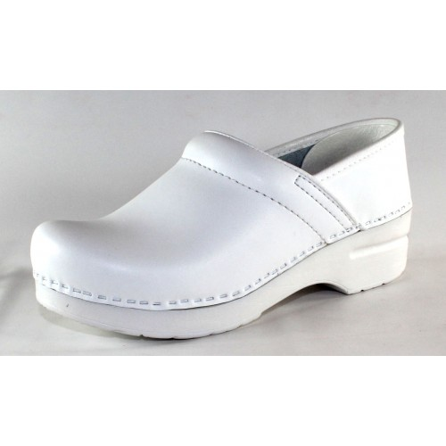 Dansko Women's Professional In White Box Leather