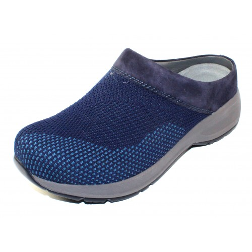 Dansko Women's Sondra In Navy Suede/Knit Mesh Fabric