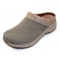 Dansko Women's Sondra In Taupe Suede/Knit Mesh Fabric