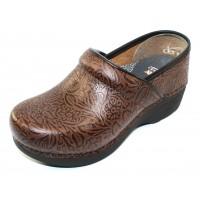 Dansko Women's Xp 2.0 In Brown Floral Embossed Leather
