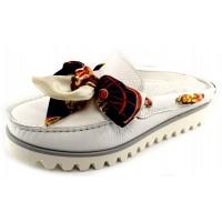 Di Chenzo Women's Art 958 In White Adria Grain Leather
