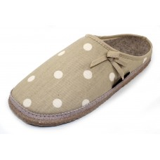 Giesswein Women's Meadow In Natural Cotton/Linen Upper/Wool Lined Footbed