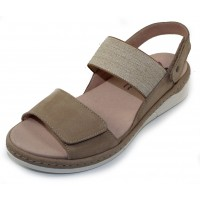Helle Comfort Women's Chloe In Taupe Suede/Stretch Elastic