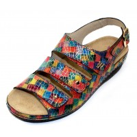 Helle Comfort Women's Thandie In Multi Barbastro Embossed Leather