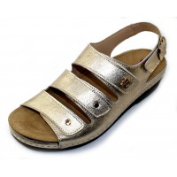 Helle Comfort Women's Thandie In Gold Metallic Leather