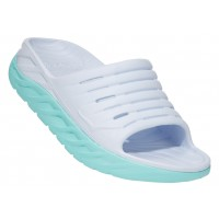 Hoka One One Women's Ora Recover Slide In White/Blue Tint