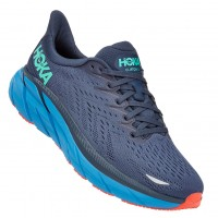 Hoka One One Men's Clifton 8 In Outer Space/Vallarta Blue