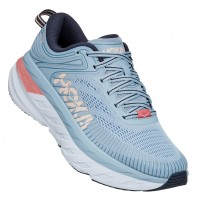 Hoka One One Women's Bondi 7 In Blue Fog/Ombre Blue