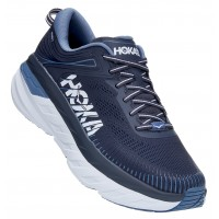 Hoka One One Men's Bondi 7 In Ombre Blue/Provincial Blue