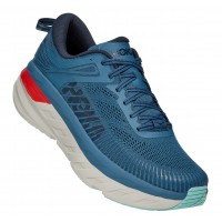 Hoka One One Men's Bondi 7 In Real Teal/Outer Space