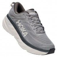 Hoka One One Men's Bondi 7 In Wild Dove/Dark Shadow