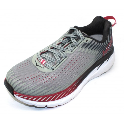 Hoka One One Women's Clifton 5 Wide In Alloy/Metal