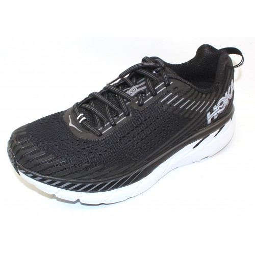 Hoka One One Men's Clifton 5 Wide In Black/White
