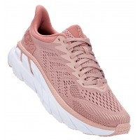 Hoka One One Women's Clifton 7 In Misty Rose/Cameo Brown
