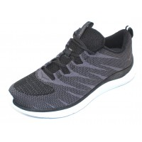 Hoka One One Men's Hupana Knit Jacquard In Black/White Knit