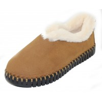 Ilse Jacobsen Women's Tulip 3150 In Latte Microfiber/White Faux Fur