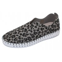 Ilse Jacobsen Women's Tulip In Grey Leopard Print
