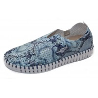 Ilse Jacobsen Women's Tulip In Skyway Snake Print