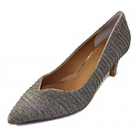 J Renee Women's Abigaile In Taupe/Gold Glitter Fabric