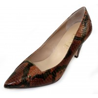 J Renee Women's Cobra In Genuine Autumn Multicolored Snakeskin Leather