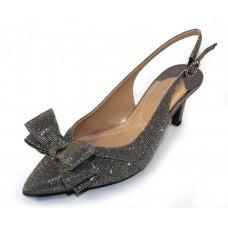 J Renee Women's Gabino In Pewter Dance Glitter Fabric/Metallic Leather