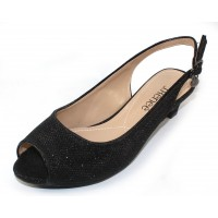 J Renee Women's Jenvey In Black Glitter Fabric