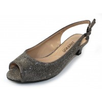 J Renee Women's Jenvey In Pewter Glitter Fabric
