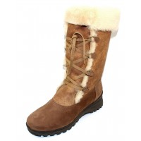 La Canadienne Women's Annabella In Camel Nubuck/Shearling