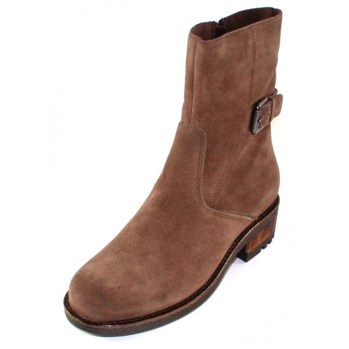 La Canadienne Women's Camilla In Stone Waterproof Oiled Suede