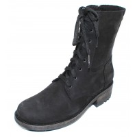La Canadienne Women's Carolina In Black Waterproof Nubuck
