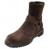 La Canadienne Women's Harris In Brown Oiled Waterproof Suede