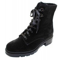 La Canadienne Women's Sable In Black Waterproof Suede