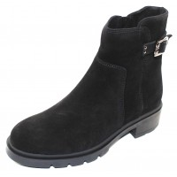 La Canadienne Women's Storm In Black Waterproof Suede