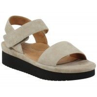 Lamour Des Pieds Women's Abrilla In Taupe Kid Suede