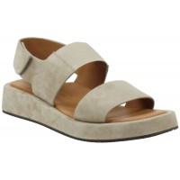 Lamour Des Pieds Women's Ainsley In Taupe Kid Suede