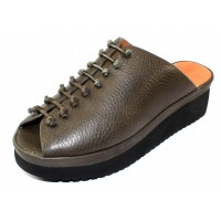 Lamour Des Pieds Women's Arienne In Olive Lamba Leather/Black Sole