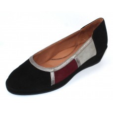 Lamour Des Pieds Women's Bettyjane In Black/Grey/Mulberry Suede