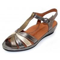 Lamour Des Pieds Women's Boqin In Metallic Multi Lamba Leather
