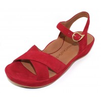 Lamour Des Pieds Women's Casimiro In Bright Red Kid Suede