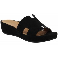 Lamour Des Pieds Women's Catiana In Black Kid Suede