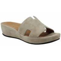 Lamour Des Pieds Women's Catiana In Taupe Kid Suede