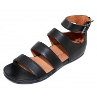 Lamour Des Pieds Women's Doroteia In Black Sheep Soft Smooth Nappa Leather