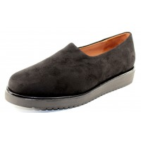 Lamour Des Pieds Women's Xenophon In Black Stretch Suede